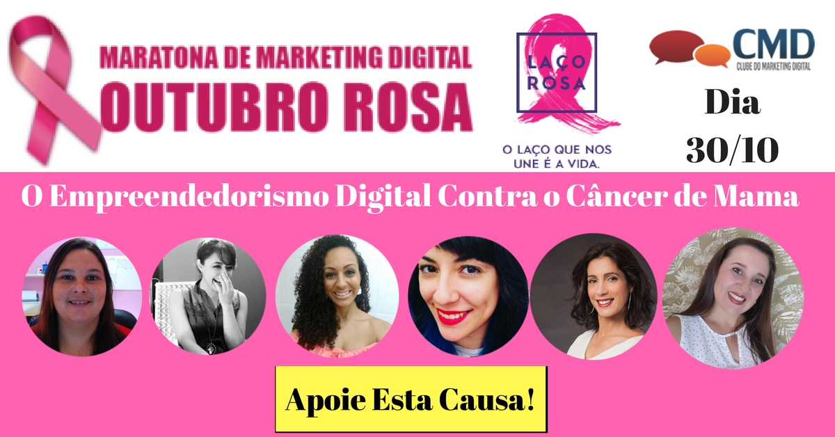 Outubro Rosa com Maratona de Marketing Digital